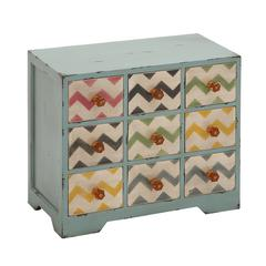 Contemporary Styled Wood Jewelry Chest Table