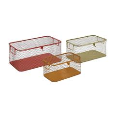 The Handy Set Of 3 Metal Storage Box