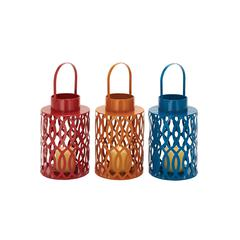 Benzara Grandly Appealing Metal Candle Lantern 3 Assorted