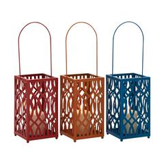 In Vogue Metal Candle Lantern 3 Assorted