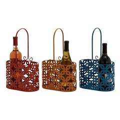 Timeless Metal Wine Basket 3 Assorted