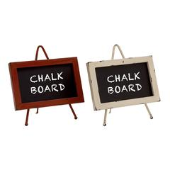 Supremely Cool Metal Wood Chalkboard 2 Assorted