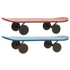 Benzara Impressive Metal Skate Shelf 2 Assorted