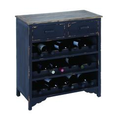 Benzara Wooden Wine Cabinet With Additional Storage Space