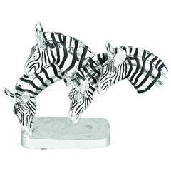 Polystone Grazing Zebras With Wild Life Blend