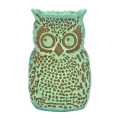 "Polystone Gloomy Owl Shape 15"" Vase With Peculiar Design"