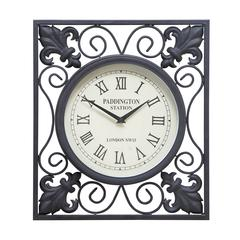 Benzara Metal Outdoor Wall Clock A Low Budget Home Interior Fashion