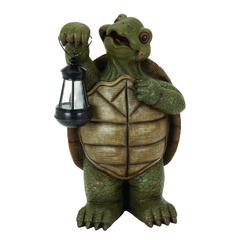 Benzara Polystone Turtle With Led Light