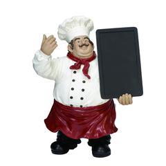 Benzara Polystone Chef Chalk Board An Inviting Decor