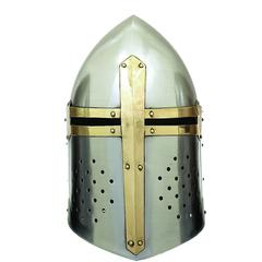Metal Crusader Helmet Can Be Clubbed With Small Decorative Items