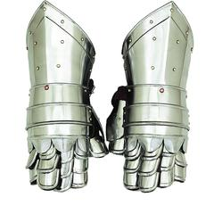 Metal Armour Hand Gloves Pair With Inviting Decor Appeal