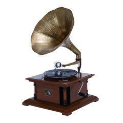 Benzara Wood Metal Gramophone For Matching Your Passion For Music