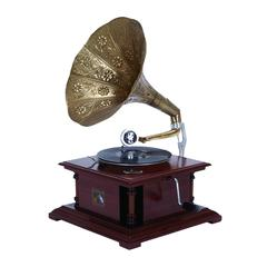Benzara Wood Metal Gramophone An Excellent Home Decor
