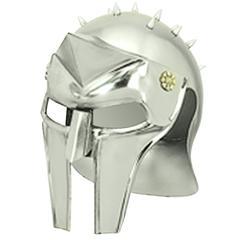 Benzara 11 Inches High Metal Gladiator Helmet