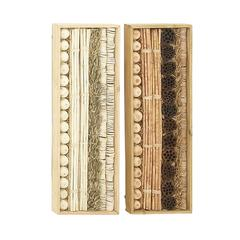 "Exceptional Wood Dried Wall Deco 2 Assorted 12""W,36""H"