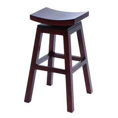 "Wooden 30"" Barstool With Solid Wooden Legs In Dark Finish"