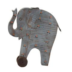 Benzara Artistic Styled Exclusive Wood Painted Elephant