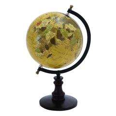 "Benzara Sophisticated Wooden And Metal 14"" Globe With Black Base"