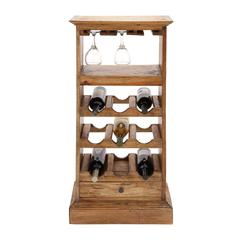 Benzara The Sleek Wood Wine Rack