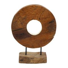 Benzara Durable Teak Wood Big Size Diyang Vase With Fabulous Shape