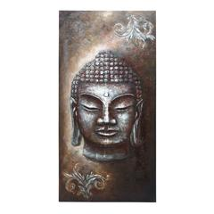 "Benzara Buddha Wall Canvas Art 79""H, 40""W"