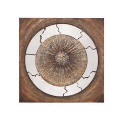 Benzara The Astute Wood Metal Canvas Art