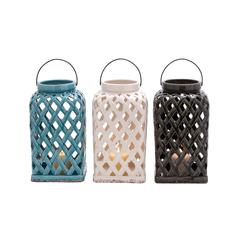 Benzara Captivating Shanghai Ceramic Lantern 3 Assorted