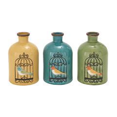 Benzara The Sweet Ceramic Vase 3 Assorted