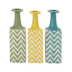 The Unique Ceramic Stripe Vase 3 Assorted