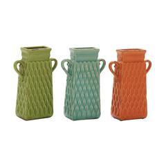 Benzara Graceful Ceramic Large Vase 3 Assorted