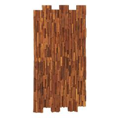 Benzara Simply Too Inspiring Wood Teak Wall Panel