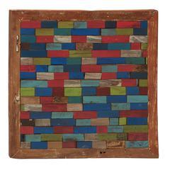 Benzara Timeless Wood Teak Wall Plaque