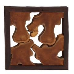 Simply Abstract Wood Teak Wall Panel