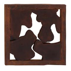 Benzara Great And Abstract Wood Teak Wall Plaque