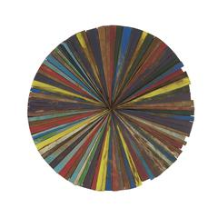 Vibrant Wood Round Wall Decor