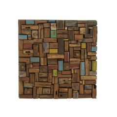 Unique And Colorful Wood Wall Décor