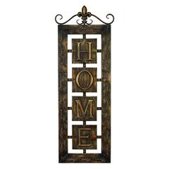 Benzara Metal Wall Plaque 'Home' An Intimate Wall Decor
