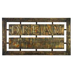Metal Wall Plaque Makes The Home Stay More Involving