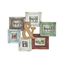 Benzara Colorful Antique Styled Wood Wall Photo Frame