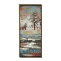 "Benzara Landscape Portray Wood Framed Canvas Art 22""W, 41""H"