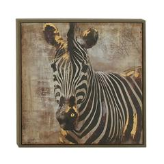 "Benzara Zebra Wood Framed Canvas Art 31""W, 31""H"