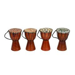 Varnished Wood Drum 4 assorted