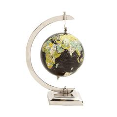 Benzara Slick And Stylish Aluminum Pvc World Globe