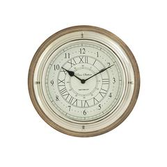 "Exclusive Wood Metal Wall Clock 14""W, 14""H"