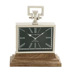Adorable Steel Wood Table Clock