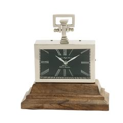 Flabbergasting Steel Wood Table Clock
