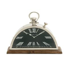Eccentric Steel Wood Table Clock