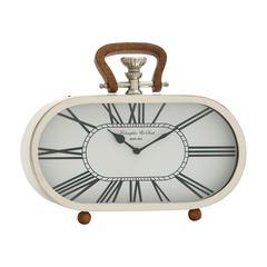 Benzara Fantastic Steel Wood Table Clock