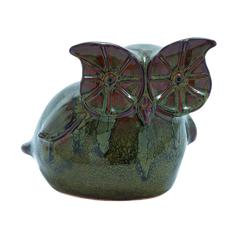 Exotic Ceramic Owl With Glossy Finish And Bright Colors