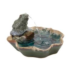 Benzara Classy Styled Creative Ceramic Frog Fountain